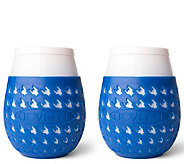 Goverre Set of 2 To-Go Portable Stemless Wine Glasses - L44755