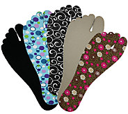 Set of 5 FlopTopz Cushioned Insoles for Flip Flops - L41460