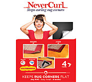 NeverCurl 8 piece Indoor/Outdoor Anti-Curl Rug Corners - L42860