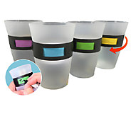 Set of Four My Color Cup Twist-Id Customizable Plastic Cups - L39782