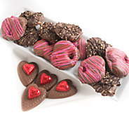 Landies Candies 16-pc Valentines Day Milk Chocolate Pretzels - M115200