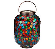 Paradise Mosaic Glass Jar with Solar Light - M45901