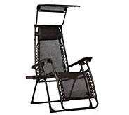 Bliss Hammocks Deluxe Tapered Gravity Free Recliner with Tray & Canopy - M46801