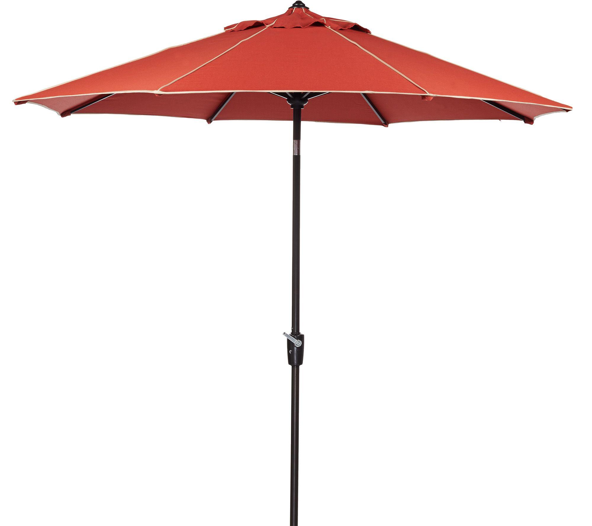 Scott Living Crank & Tilt Umbrella with Cover Page 1 — QVC