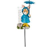 Plow & Hearth Animal Holding Umbrella Rain Gauge - M55701