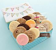 Cheryls Birthday Pennant Tin - 16 Assorted Cookies - M115402