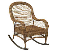 ATLeisure Hannah All-Weather Padded Wicker Rocking Chair - M43102