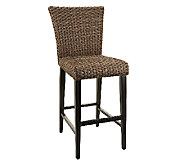 ATLeisure Sarah Indoor/Outdoor Padded Wicker Bar Stool - M43103