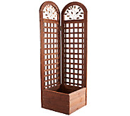 Merry Products Wooden Trellis Screen and Planter System - M45903