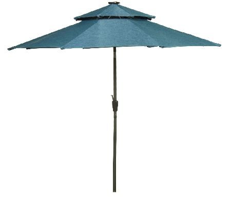 ED On Air ATLeisure 9' Double Top Umbrella by Ellen DeGeneres