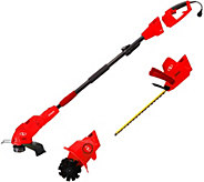 Sun Joe 4-N-1 Electric Tiller String & Hedge Trimmer Kit - M52004