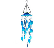 Plow & Hearth Colorful Glass Wind Chimes - M55704
