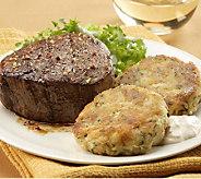 Kansas City Steaks (8) 6-oz Filet Mignon & (8)3-oz Crab Cakes - M106505