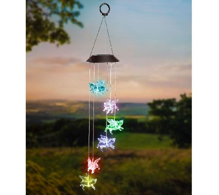 Plow hearth set of 2 mobiles wcolor changing led solar lights plow hearth set of 2 mobiles wcolor changing led solar lights page 1 qvc aloadofball Images