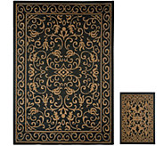 Veranda Living 5x7 Reversible Indoor/Outdoor Scroll Rug with Bonus Doormat - M51805