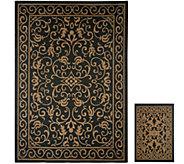 Veranda Living 5x7 Reversible Indoor/Outdoor Scroll Rug with Bonus Doormat - M51805