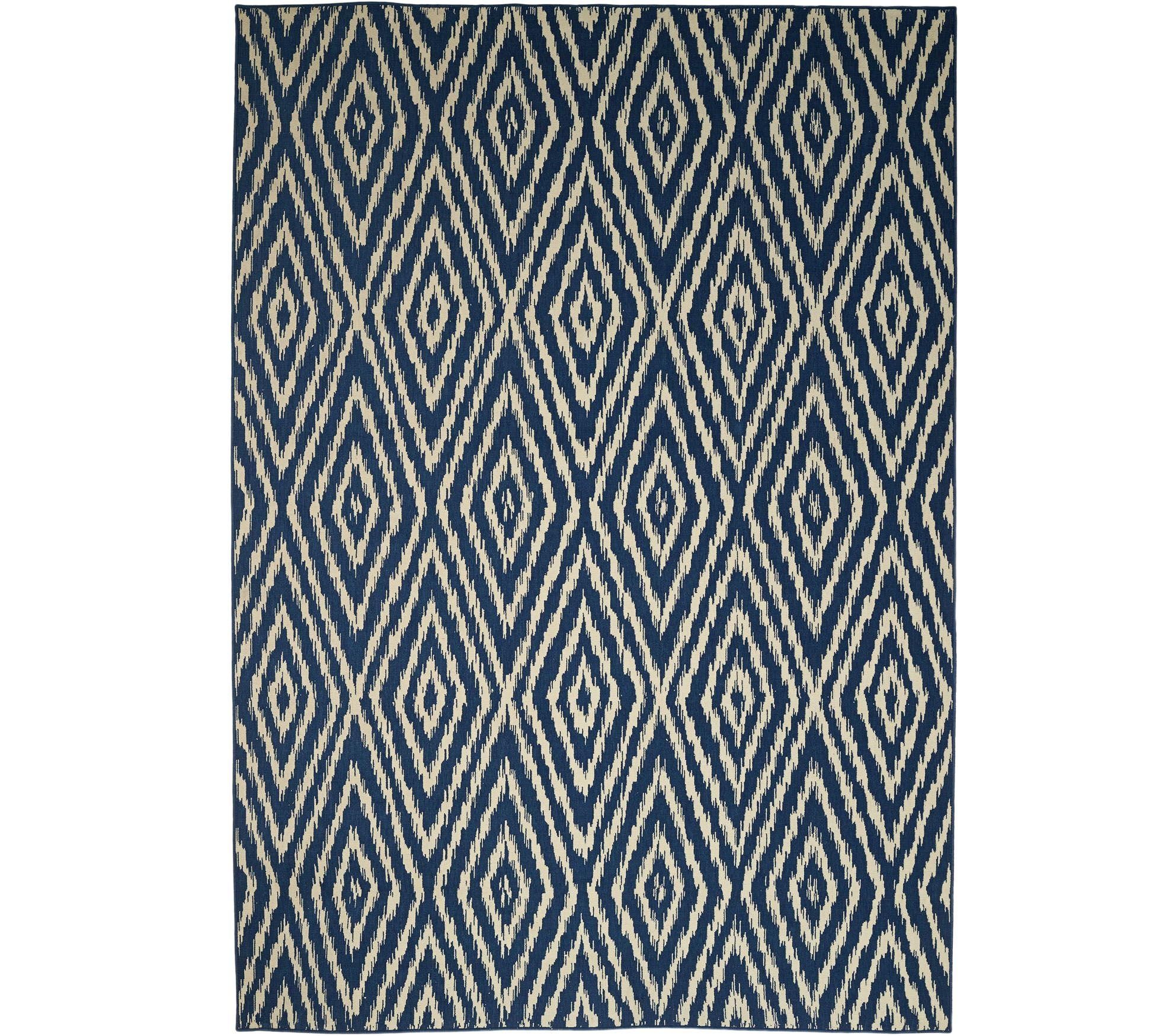 Scott Living 7x10 Diamond Back Indoor Outdoor Rug Page 1 — QVC