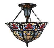 Quoizel Tiffany-Style Art Nouveau Semi-Flush Mont - M104106