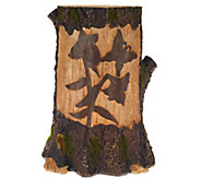 Plow & Hearth Carved Decorative Solar Tree Stump - M49006