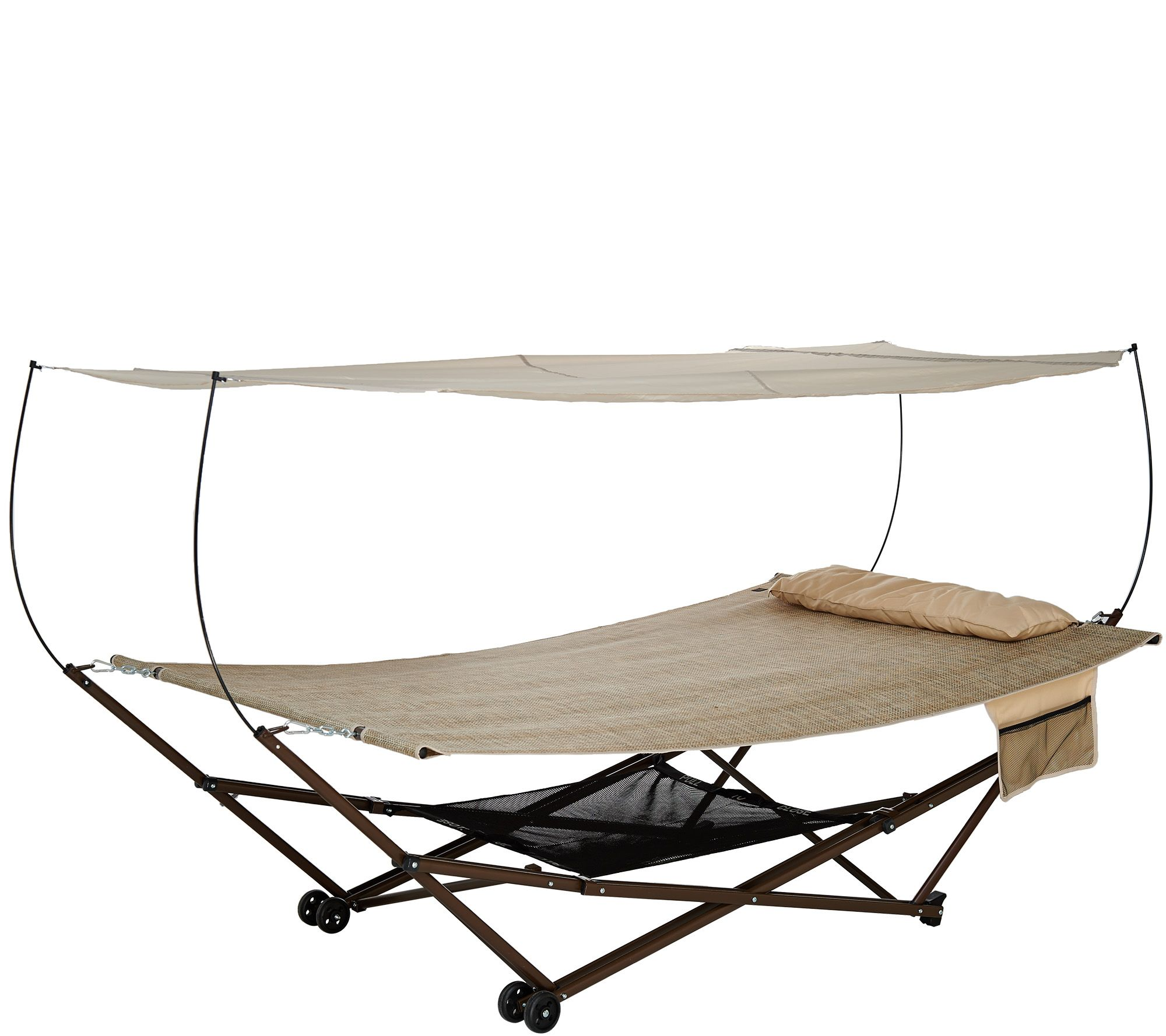 Bliss Hammocks 2-Person EZ Stow Hammock With Canopy Wheels and Bag - Page 1 u2014 QVC.com  sc 1 st  QVC.com & Bliss Hammocks 2-Person EZ Stow Hammock With Canopy Wheels and Bag ...