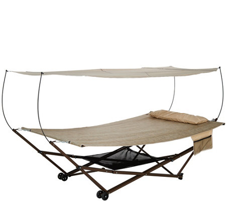 Bliss Hammocks 2 Person Ez Stow Hammock With Canopy Wheels