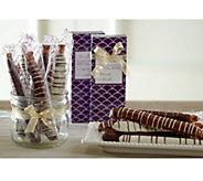 Mrs. Prindables (8)3pc Caramel & Chocolate Pretzel Rods - M49306