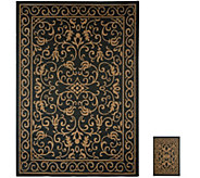 Veranda Living 7x10 Reversible Indoor/Outdoor Scroll Rug with Bonus Doormat - M51806