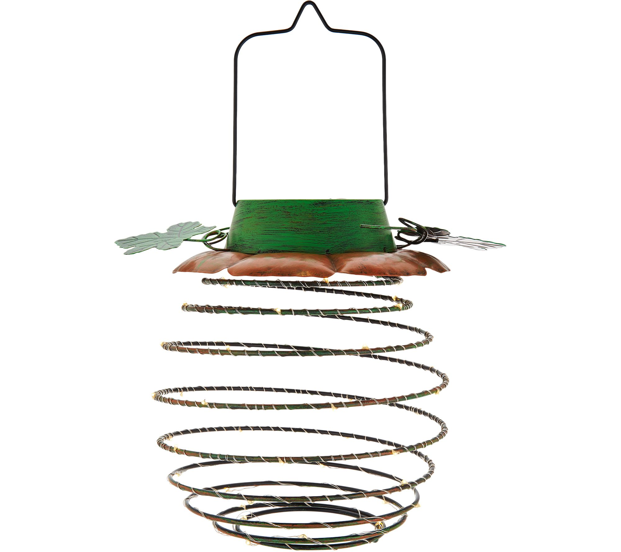 Qvc Outdoor Wall Lights: Plow & Hearth Solar Hanging Decorative Top Lantern