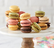 Ships 12/4 White Toque 36 Count Assorted French Macarons - M55306