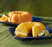 Dockside Market (2) 24-oz Key Lime & Sunrise Orange Cakes - M113407