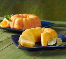 Dockside Market (2) 24-oz Key Lime & Sunrise Orange Cakes