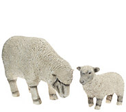 Plow & Hearth Lamb and Sheep Garden Statue Set - M46607