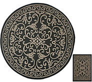 Veranda Living 84 Round Indoor/Outdoor Scroll Rug with Bonus Doormat - M51807