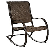 ATLeisure Julia Padded Faux Wicker Rocking Chair - M45508