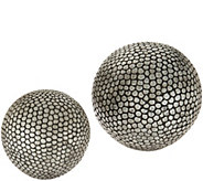 Scott Living Set of 2 Indoor/Outdoor Orbs - M52208