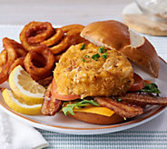 Great Gourmet (8) 4 oz. Cheesy Crab Bacon Burgers - M54809
