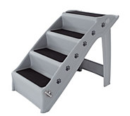 Petmaker 4-Step Folding Plastic Pet Stairs - M116010