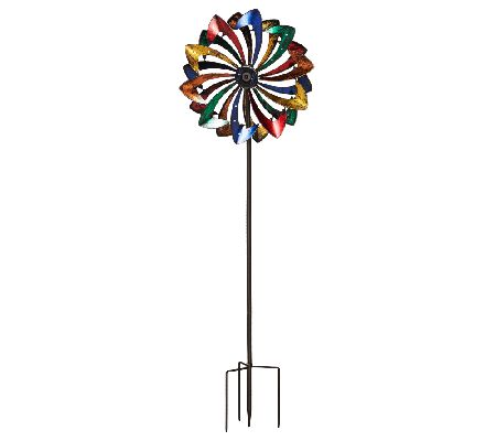 Plow & Hearth 6 ft. Wind Spinner w/ Solar LED Lights