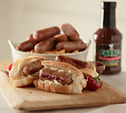 Corkys BBQ 4 lbs. Sausage or Bratwurst Links and 18oz BBQ Sauce - M49310