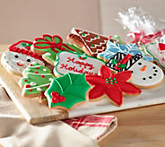The Frosted Baker 21-piece Decorated Holiday Cookies - M49011