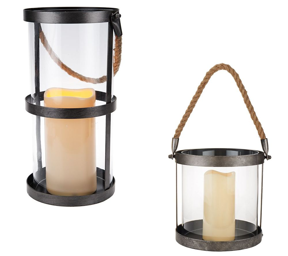 Scott Living Battery Operated Rustic Hanging Lantern