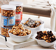 Ships 11/7 Hampton Popcorn Set of 6 Gourmet Popcorn in Holiday Tube - M51211