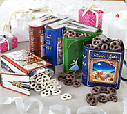 Harry London (5) 10 oz. Storybook Tins with Chocolate Pretzels - M52311