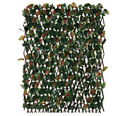 Compass Home Expandable Faux Ivy Privacy Fence with Colored Leaves - M52911