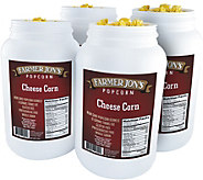 Farmer Jons (4) 1-Gallon Jugs - Cheese Popcorn - M116312