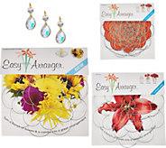 Easy Arranger Set of 8 Floral Arranging Guides w/ Glass Gem Accents - M52012