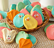 Cheryls 30 Piece Easter Buttercream Frosted Cutout Cookies - M54112