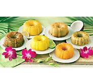 Dockside Market (6) 4-oz Mini Tropical-Flavor Bundt Cakes - M113413