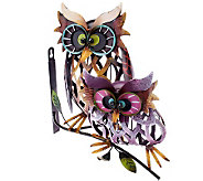 Plow & Hearth Prismatic Owl Pair Iron Wall Sculpture - M42013