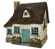Plow & Hearth Indoor/Outdoor Resin Fairy Cottage with LED Lights - M49613